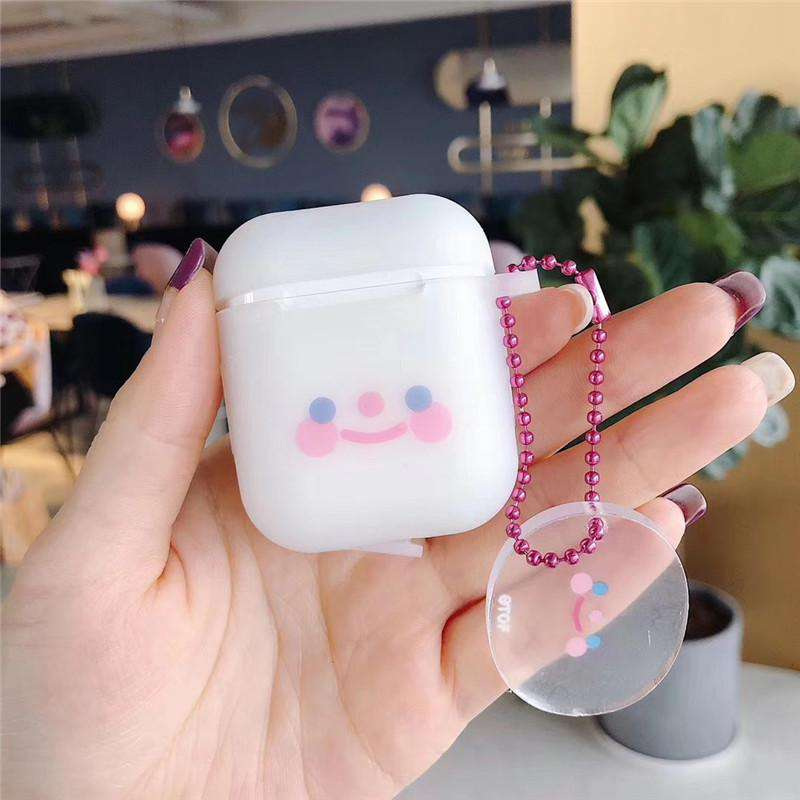 Transparent Smiling Face Protective Case for AirPods