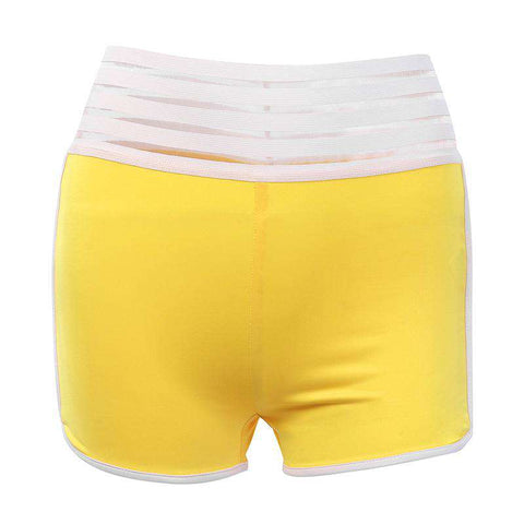 Tight Elastic Hip Lifting Solid Color Sports Yoga Shorts gallery 6