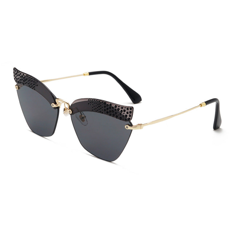 Frame Sunglasses Without Design With Rhinestone QCrtshd