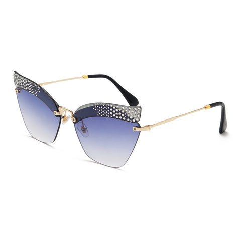Without Frame Design With Rhinestone Sunglasses gallery 6