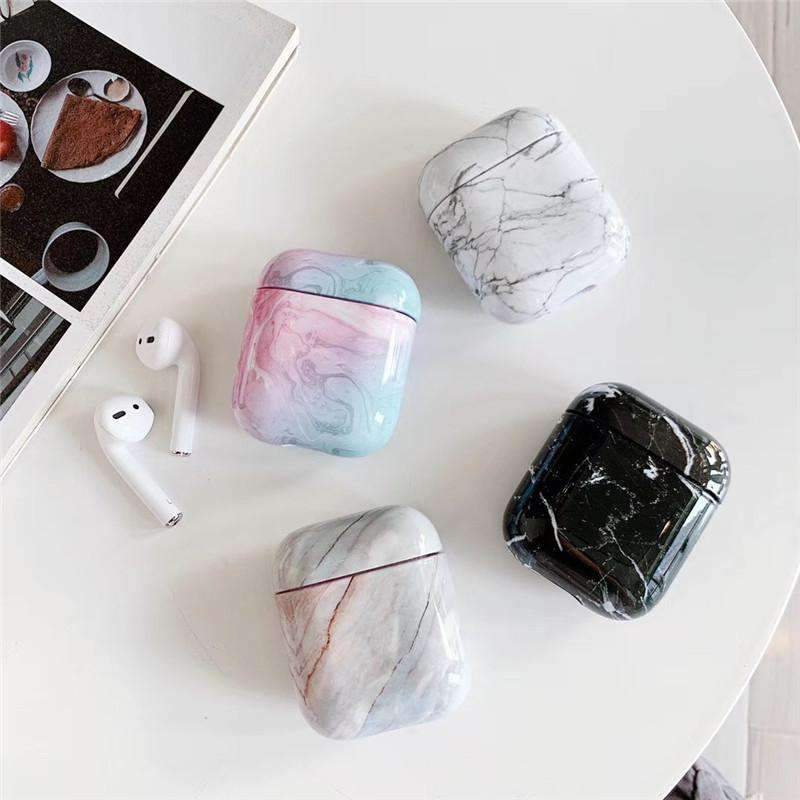 Contracted Marble Pattern Shockproof Case for Apple Airpods