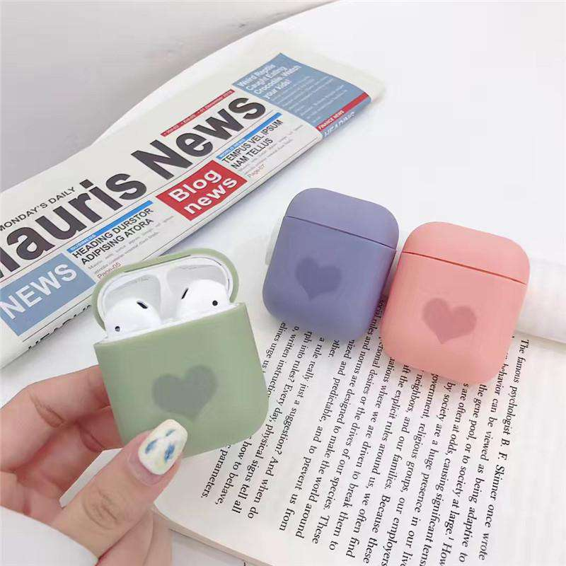 Lovable Heart Pattern Shockproof Case for Apple Airpods
