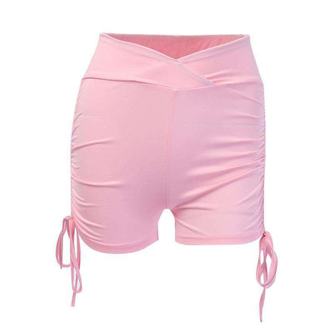 Tight Elastic Hip Lifting Solid Color Sports Yoga Shorts gallery 5