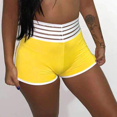 Chic Bright Color Hip Lifting Yoga Shorts gallery 2