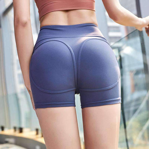 Elastic Breathable Solid Color Yoga Shorts gallery 3