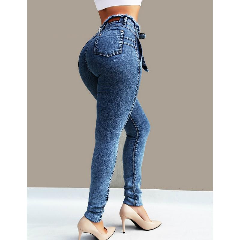 Butt Lifting Skinny Paperbag Waist Jeans