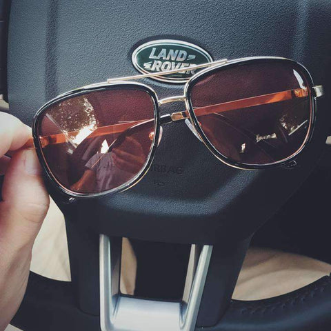 Chic Square Resin Red Lens Sunglasses gallery 6