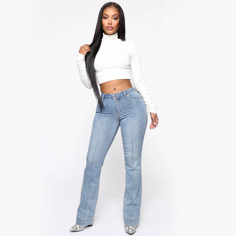 Relaxed Fit Flare Jeans