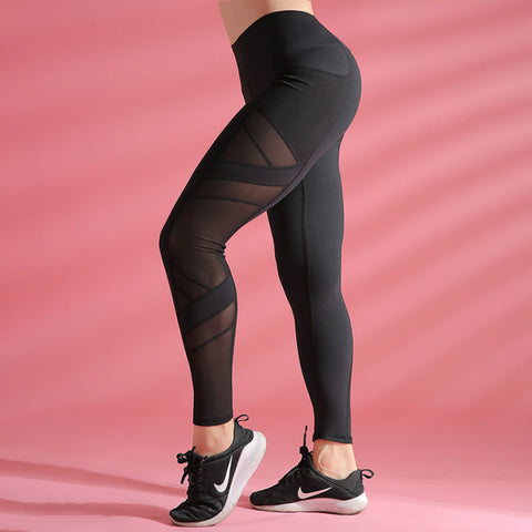 Solid Seamless High-Waisted Mesh 7/8 Legging