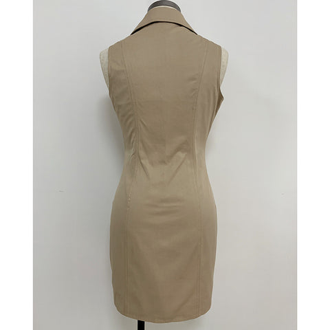 Sleeveless Sandy Trench Dress gallery 3