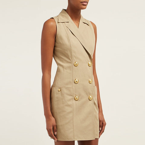 Sleeveless Sandy Trench Dress gallery 1