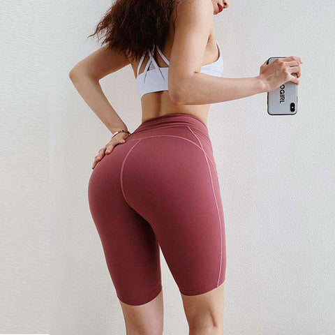 Peach Carry Buttock Tight Sports Shorts gallery 1