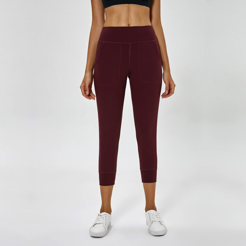 High Waist Pocket Butt Lifting Capri Leggings