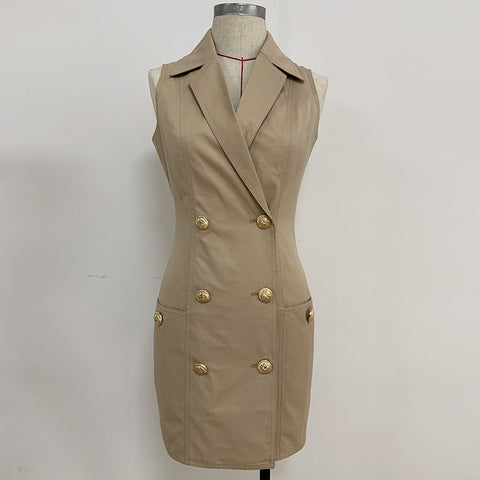 Sleeveless Sandy Trench Dress gallery 2