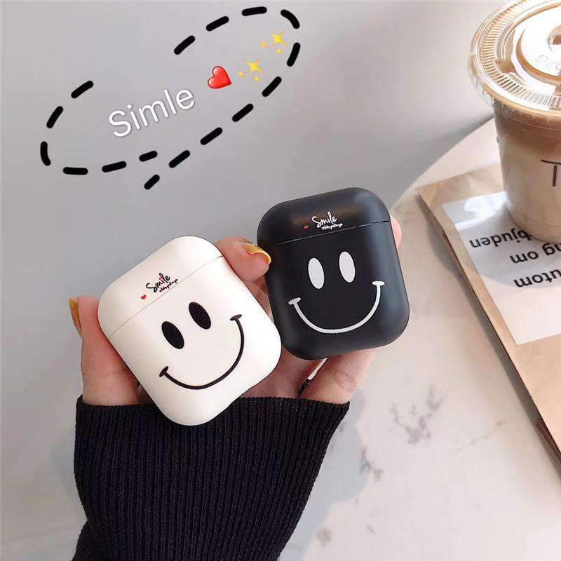 Contracted Smiling Face Silicone Cover Case for Apple Airpods