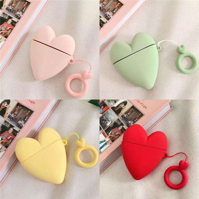 Heart-Shaped Silicone Protective Cover Case for Airpods