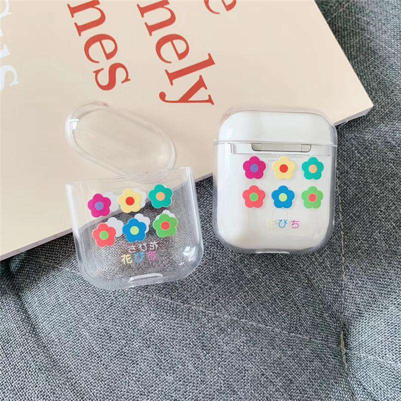 Lovable Colorful Flowers Painted Case for Apple Airpods