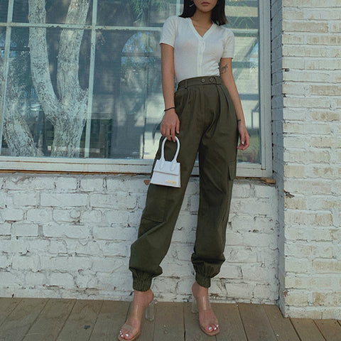 High Waist Straight Leg Cargo Trousers gallery 11