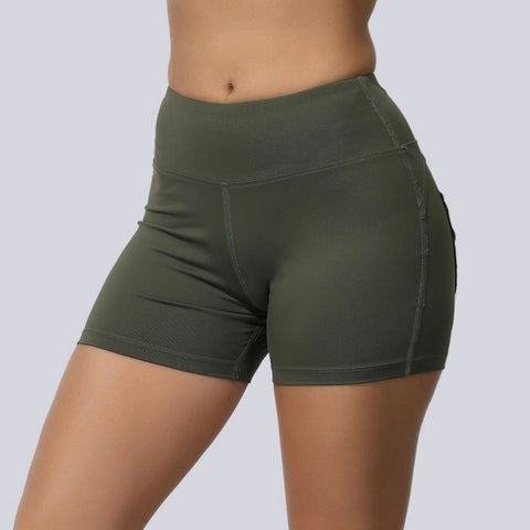 High Waisted Solid Fast and Free Pockets Gym Shorts gallery 3