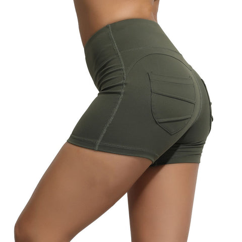 High Waisted Solid Fast and Free Pockets Gym Shorts gallery 5