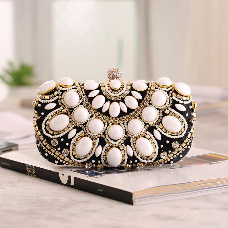 Handmade Beads Evening Bag Clutch Purses