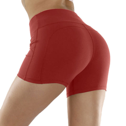 Solid Stretch Fit Non-Reflective High-Rise Shorts gallery 4