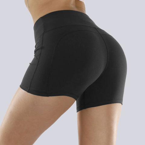 Solid Stretch Fit Non-Reflective High-Rise Shorts gallery 5