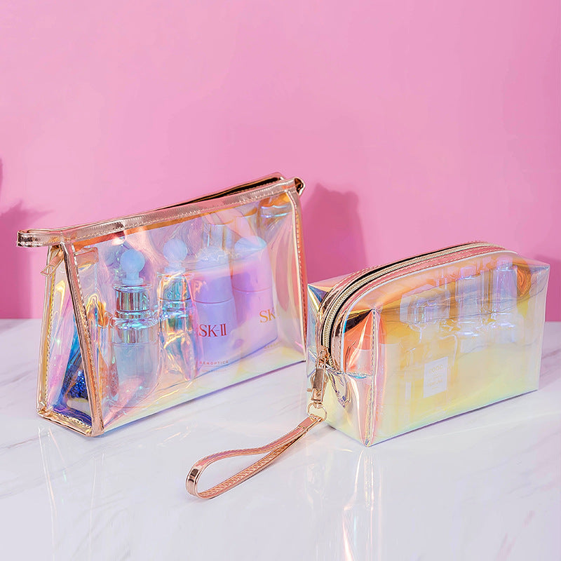 Holographic Iridescence Waterproof Make-up Bag