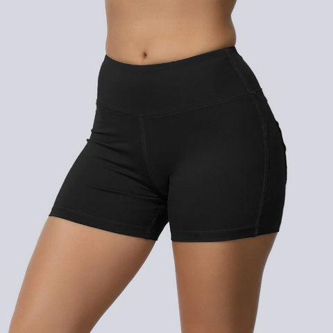 High Waisted Solid Fast and Free Pockets Gym Shorts gallery 6