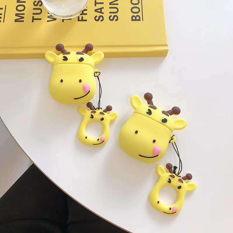 Silicone Giraffe Designed Shockproof Case for Apple Airpods