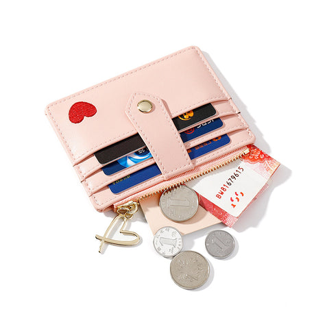 Heart Print Leather Card Holder gallery 2