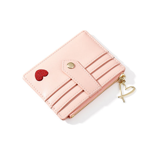 Heart Print Leather Card Holder gallery 3