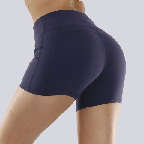 Solid Stretch Fit Non-Reflective High-Rise Shorts gallery 2