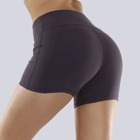Solid Stretch Fit Non-Reflective High-Rise Shorts gallery 6