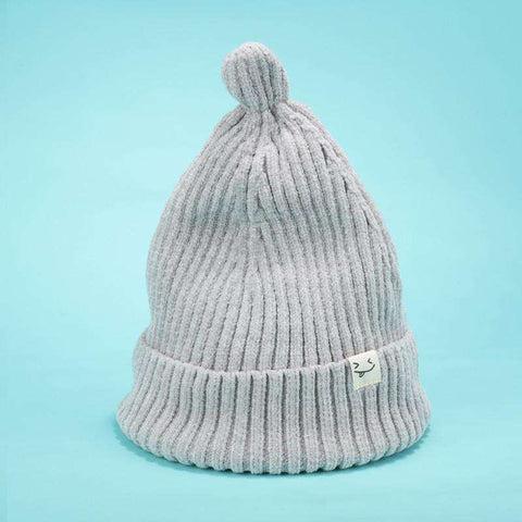Smile Face Stitch Knit Beanie Hat gallery 5