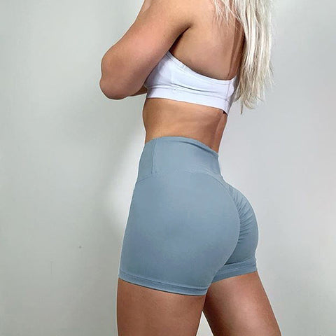 High Rise Compression Push Up Gym Workout Yoga Shorts gallery 3