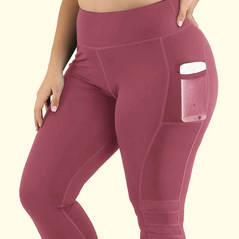 Plus Size High-rise 1/2 Tight With Side Pocket