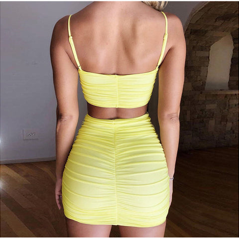 Sexy Square Neck Ruched Mini Bodycon Jersey Dress gallery 3