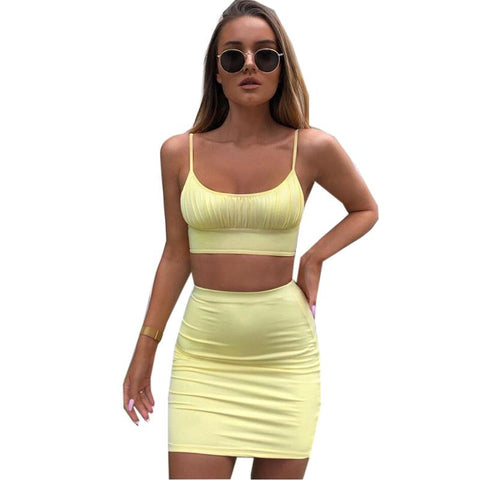 2 Piece Ruched U-neck Mini Bodycon Jersey Dress gallery 7