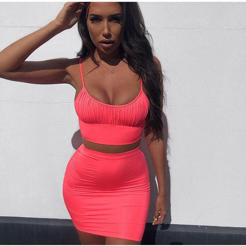 2 Piece Ruched U-neck Mini Bodycon Jersey Dress gallery 4