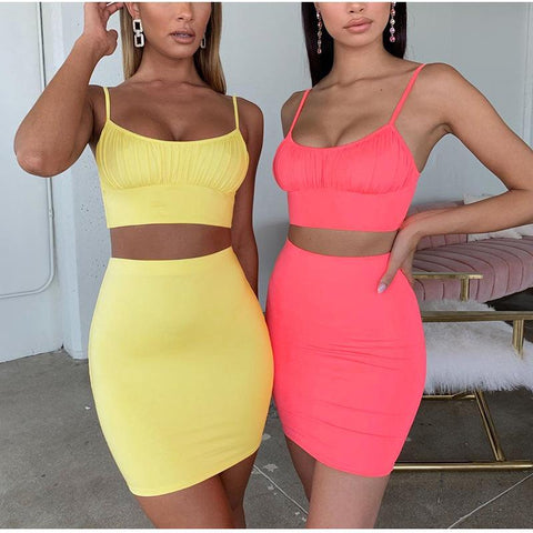 2 Piece Ruched U-neck Mini Bodycon Jersey Dress gallery 6