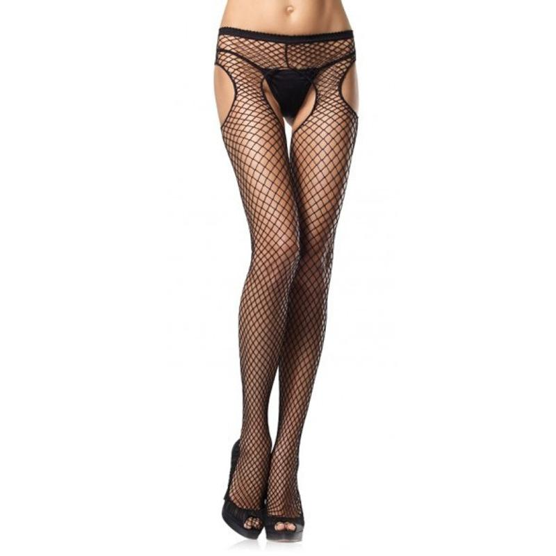 Fishnet Sassy Cut Out Crotchless Pantyhose