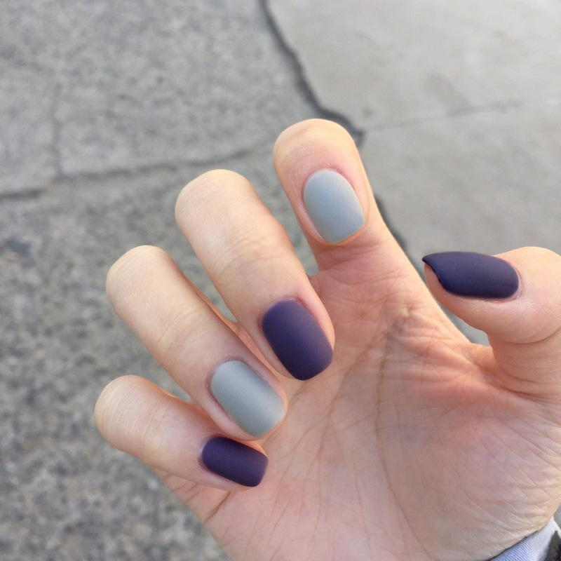 Blue Whale Magic Press On Nail Manicure