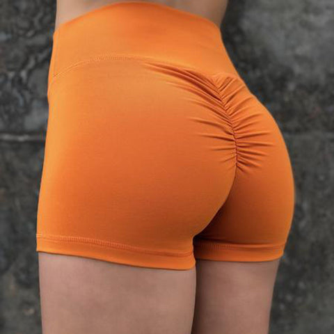 Solid High Waist Ruched Butt Shorts gallery 1