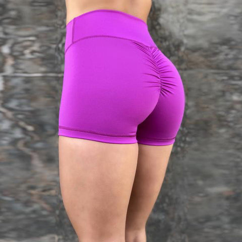 Solid High Waist Ruched Butt Shorts gallery 3