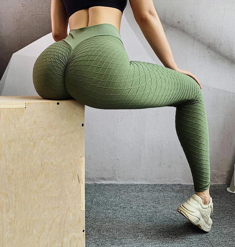 High Waist Butt Lifting Seamless Textured Leggings gallery 10
