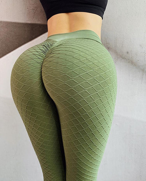 High Waist Butt Lifting Seamless Textured Leggings gallery 12