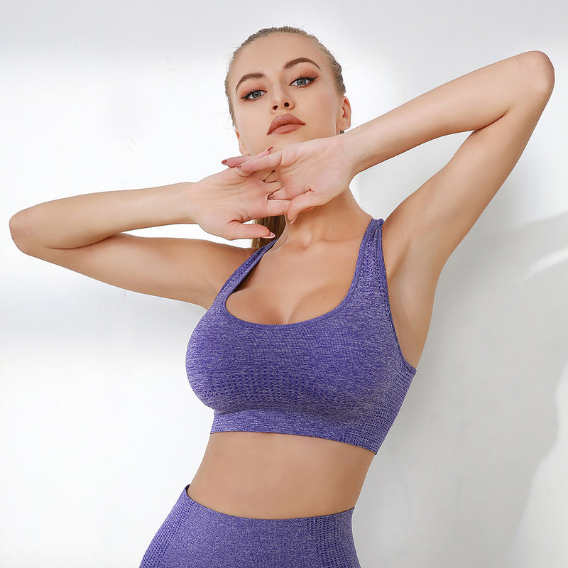 Seamless Racerback Shockproof Breathable Sports Bra