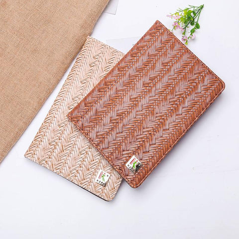 Knitted Grain Pure Color Foldable iPad Cover Case gallery 3