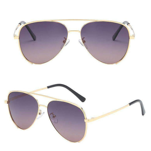 Double Layer Frame Aviator Sunglasses gallery 4